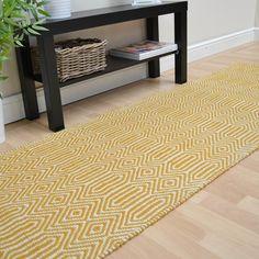 Sloan Hallway Runners in Mustard buy online from the rug seller uk