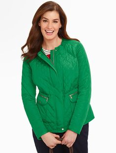 Talbots - Quilted Jewelneck Coat   Coats and Outerwear   Woman