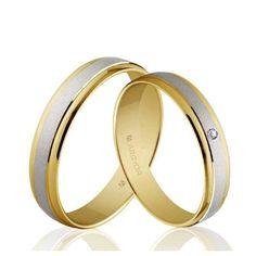 Alianzas de boda Oro 1ª Ley 18Kts. bicolor 4mm Argyor ref. 5240044 18K