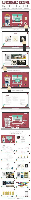 Illustrated Interactive PDF Resume - ePublishing
