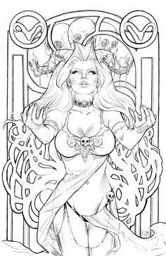 Lady Death Aries lines by ToolKitten.deviantart.com on @deviantART