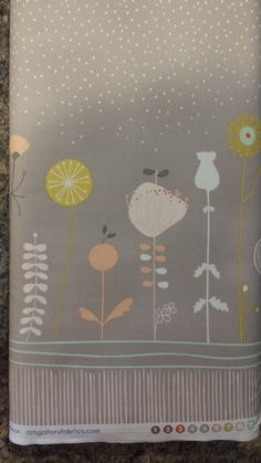 Magical Prairie Moon PANEL LT-20040 < Littlest Collection by Art Gallery Fabrics < Fabric by the Yard > Grey Floral Bird Bunny Panel by MaximizeYourFabric on Etsy