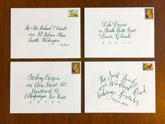 The Ginger Pen Lettering Studio Lettering Design, Hand Lettering, Calligraphy Envelope, Envelopes, Velvet, Handwriting, Calligraphy, Hand Drawn Type, Hand Type