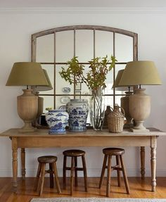 foyer vignette mirror and console table Interior Design Living Spaces, Living Room, Interior Decorating, Interior Design, Foyer Decorating, Decorating Ideas, Console Table, Hallway Console, Table Mirror