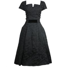 1950s Hattie Carnegie Cocktail Dress | From a collection of rare vintage evening dresses at http://www.1stdibs.com/fashion/clothing/evening-dresses/