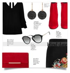 """Dress to Impress: Blind Date 2"" by loloksage ❤ liked on Polyvore featuring River Island, Yves Saint Laurent, Prada and Astley Clarke"