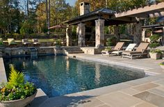 Madison Cabin - Rustic - Pool - atlanta - by Kemp Hall Studio