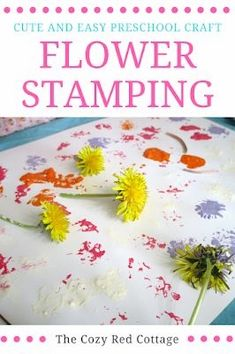 Stamping with flowers-preschool craft Stamping with flowers-preschool craft . Stamping with flowers-preschool craft Stamping with flowers-preschool craft This image has get Easy Preschool Crafts, Preschool Garden, Preschool At Home, Preschool Lessons, Toddler Crafts, Crafts For Kids, Spring Preschool Theme, Preschool Flower Theme, Preschool Projects