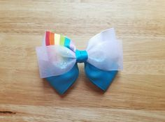 Rainbow Dash Inspired Hair Bow My Little Pony by BerryTreasured