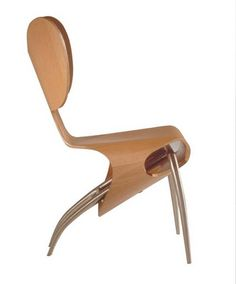 Empty chair by Ron Arad  Very rare item made by Driade with a matching table.
