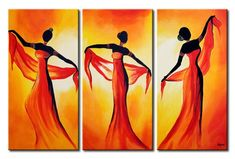 Online Shop High Quality Hand Painted Portrait Women Dancing Hang Acrylic Picture Wall Art Decor Handmade Sexy Dancer Oil Painting on Canvas African Art Paintings, Easy Paintings, Modern Paintings, Afrique Art, Modern Canvas Art, Afro Art, African American Art, African Women, Oil Painting Abstract