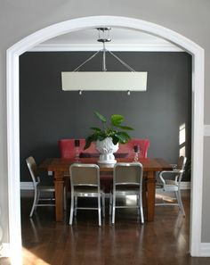 grey accent wall- behr intellectual