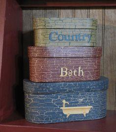 Primitive Bath Boxes
