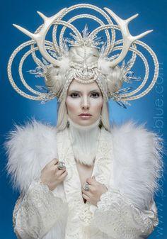 Beira Snow Goddess Braided Headpiece