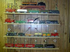 Buy/Make Anything Cool Lately (Tinplate Version) Model Trains, Toy Trains, Old Toys, Cool Stuff, Stuff To Buy, How To Make, Shelving, Tin, Plate