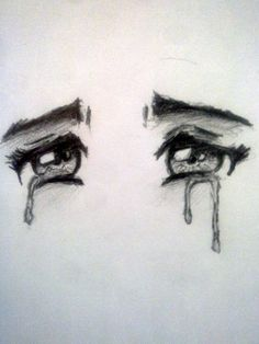 Crying Anime Eyes by on DeviantArt Anime Crying Eyes, Anime Eyes, Sad Drawings, Art Drawings Sketches, Drawings Of Sadness, Arte Sketchbook, Eye Art, Drawing Techniques, Drawing People