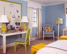 Make it Blue- girl rooms