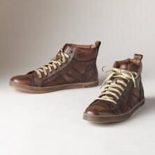 A comfortable classic gets sharp contemporary touches in this pair of BedStü leather sneakers.