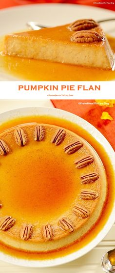 A step-by-step, delicious Pumpkin Pie Flan recipe (pudim de abóbora) infused with spices, to celebrate Fall and Thanksgiving.