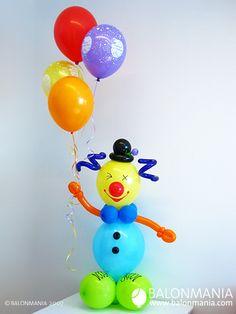 POVEĆAJ Diy Birthday Decorations, Balloon Decorations Party, Baby Shower Decorations, Clown Balloons, Birthday Balloons, Balloon Flowers, Balloon Bouquet, Circus Birthday, Boy Birthday Parties