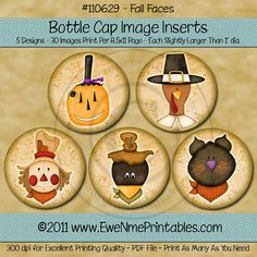 INSTANT DOWNLOAD  Printable Bottle Cap Images  by ewenmeprintables, $2.50