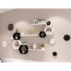 In Wall Shelves Decorative Bedroom Storage Living Room Large Unique Unique Wall Shelves, Wall Shelf Decor, Wall Shelves Design, Modern Shelving, Room Wall Decor, Wall Shelving, Decorative Wall Shelves, Bookshelf Design, Unique Wall Decor