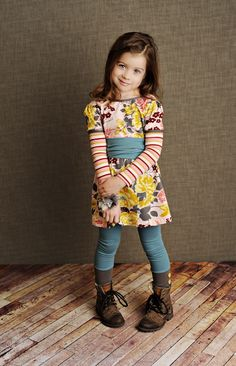 Tween Girls Clothes | Desigual Kids Clothing | European Children's Boutique - Persnickety Fall 2012 Pink Lace & Pinecones Blue Sashed Gayle Dress