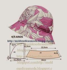 MODA E MOLDES - FELTROMARA: chapéu com molde
