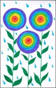 Jarní déšť a duhové květiny Shower, Prints, Dibujo, Rain Shower Heads, Showers