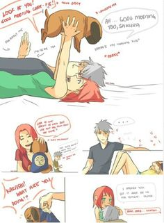 Kakashi is jealous of Pakkun lol
