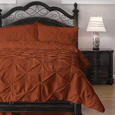 ⚜️ Add charm to your home with ExceptionalSheets California King Size Comforter Set - 3 Piece Down Alternative Comforters - Decorative Pinch Pleat Pintuck Design - Wrinkle Resistant Microfiber Bed Set - Black from Black Comforter, Grey Bedding, Luxury Bedding, Twin Comforter, Orange Comforter, Dorm Bedding, Queen Size Comforter Sets, King Size Comforters, Queen Bedding