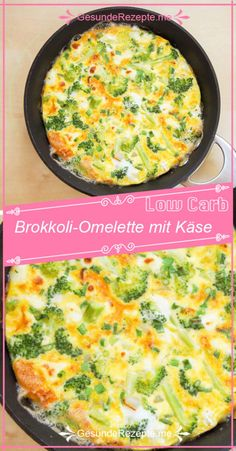 Broccoli omelette with cheese – GesundeRezepte.me Broccoli omelette with cheese – GesundeRezepte. Healthy Gluten Free Recipes, Vegetarian Recipes Dinner, Healthy Chicken Recipes, Beef Recipes, Healthy Breakfast Recipes, Healthy Lunches, Omelettes, Broccoli Omelette, Cheese Omelette