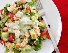Мексиканский салат с креветками