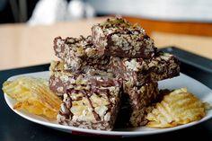 Potato Chip Rice Crispy Treat Triple Chocolate Bark3