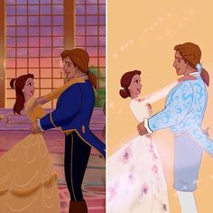 Here's a side by side of the original and mine. What do you think about the final of the live action movie ? #beautyandthebeast #beautyandthebeast2017 #beautyandthebeast1991 #theenchantress1991 #celebration #dress #celebrationdress #adam #belle #prince #love #comparaison #taleasoldastime #tenten33