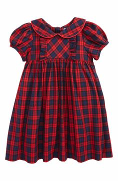Main Image - Luli & Me Plaid Dress (Baby Girls)