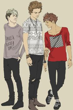 My 3 fave 1D guys in 1 pic! But where's my other boys?