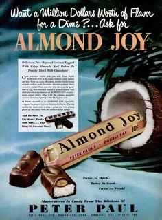 Almond Joy ad from Life - November 6, 1950