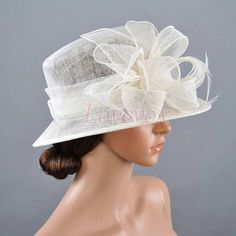 Derby Hat, Outdoor Wedding  Ivory Hat, Kentucky Derby Hat, Bridal Floral Hat, Horse Races Hat, Ivory Tea Party Hat, Fascinator Church Hat 24 on Etsy, $37.00