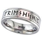 Geti Flat Titanium Ring With Your Runes See our Geti Titanium Rings at http://www.qualitysilver.co.uk/Jewellery/Geti-Rings.html