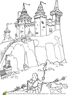 Home Decorating Style 2020 for Coloriage Chateau Fort Chevalier, you can see Coloriage Chateau Fort Chevalier and more pictures for Home Interior Designing 2020 at Coloriage Kids. Castle Coloring Page, Colouring Pages, Adult Coloring Pages, Coloring Sheets, Coloring Books, Medieval Life, Medieval Castle, Castle Drawing, Chateau Medieval