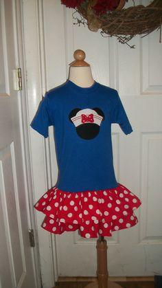 Disney Cruise Shirt Ruffle Dress by StitchesNBows on Etsy, $26.95