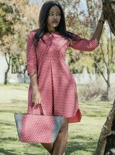 african print dresses Dress and bag to match, Ankara dress, African print dress, women dress, knee length dress Latest African Fashion Dresses, African Dresses For Women, African Print Dresses, African Print Fashion, African Attire, African Wear, African Women, Dress Fashion, Ankara Fashion