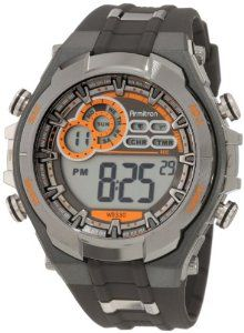 Armitron Men's 408188GMG Chronograph Gray and Black Digital