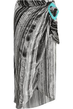 J.W.Anderson Striped devoré-velvet midi skirt NET-A-PORTER.COM