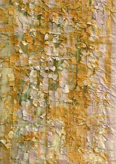 tamar branitzky SOFT COTTON PAINTED IN GREYS BRUSHO TORN INTO STRIPS AND STITCHED AS A GEO LAYER