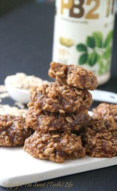Low Fat Peanut Butter Cinnamon Oatmeal Cookies (GF, DF, bean free)