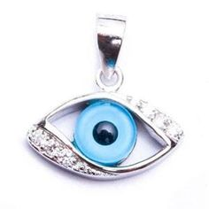 Sterling Silver Evil Eye with CZ Pendant Make Your Own Ring, Design Your Own Ring, Custom Wedding Rings, Wedding Ring Designs, Sterling Silver Bracelets, Sterling Silver Pendants, Evil Eye, Unique Rings, Diy Jewelry