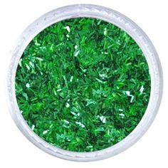 """2MM / .062""""X.0125"""" Flitter Glitter – Emerald Green Solvent Resistant Flitter Glitter   #glitties #glitter #green"""
