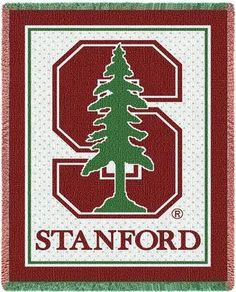 Stanford University Cardinal Red Woven Stadium Blankets